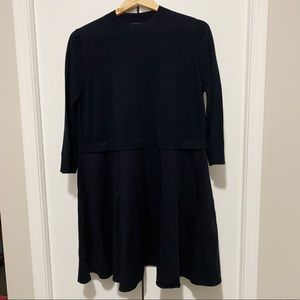 COS Long Sleeve Knit and Woven Dress